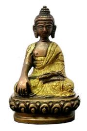 Thaise Boeddha-Mudra twee kleuren messing 8 cm hoog
