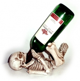 Guzzler Skelet - Gothic wijnfleshouder