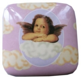 Porcelain cherub design jewelry box (2)