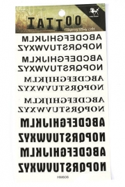 Plaktatoeage Alfabet