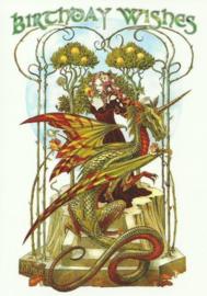 Garden of the Firedrake - Briar - Verjaardagskaart - 12 x 17 cm