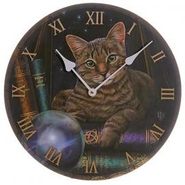 Klok 'Fortune Teller' kat met kristallen bal Ø 30 cm