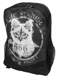 Darkside rugzak - Number of the Beast 666 Satanic cat