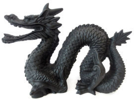 Chinese Feng Shui Draak Zwart - 13 x 19 cm