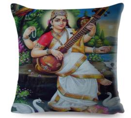 Kussenhoes Hindu God - Saraswati 2 - 45 x 45 cm