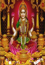 Briefkaart / Hindu wenskaart Lakshmi 10