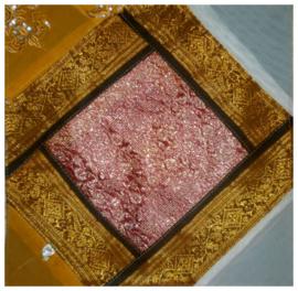 Kussenhoes sarizijde 30 - 40 x 40 cm