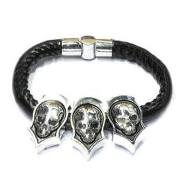 Gothic RVS armband - doodskoppen Magere Hein 1