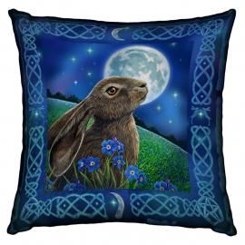 Gevulde kussen Moon Gazing Hare - dessin Lisa Parker - 42 x 42 cm