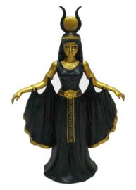 Zwart en gouden staande Cleopatra - 26 cm hoog