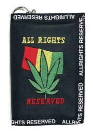 Portemonnee - Cannabisblad - All Rights Reserved - 13 x 9 cm