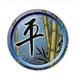 Raamsticker Bamboo Peace