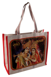 Bollywood Bag Indiase katoenen shopper - Krishna en Rhada - 35 x 40 x cms