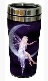 RVS Thermos reisbeker - Fee in Maan - Birth of a Star - 19,5 cm - 47 cl