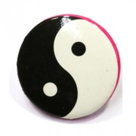 Retro button Yin Yang