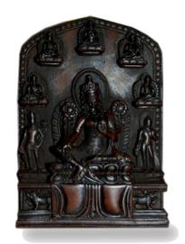 Altaar Tara donkerbruin polyresin - 11 x 8 cm