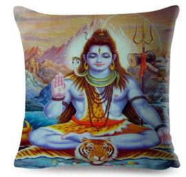 Kussenhoes Hindu God - Shiva zittend - 45 x 45 cm