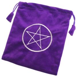 Tarot kaarten opbergtas pentagram paars
