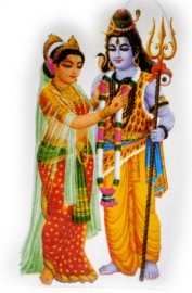 Sticker Shiva Parvati