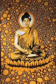 Bedsprei / wandkleed Boeddha Goud - 225 x 150 cm