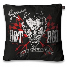 Kussenhoes Hot Rod Hell Cat - Genuine Devil - 50 x 50 cm
