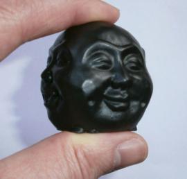 Happy Boeddha met 4 Gezichten 5 cm zwart