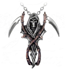 Alchemy Gothic Horror Magere Hein nekketting - The Reaper's Arms