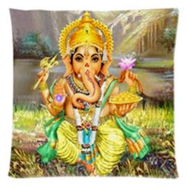 Kussenhoes Ganesha zittend gele broek - 45 x 45 cm
