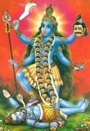 Briefkaart / Hindu wenskaart Kali 2