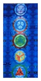 Bedsprei wandkleed tafelkleed vloerkleed strandlaken Chakra blauw - 70 x 150 cm