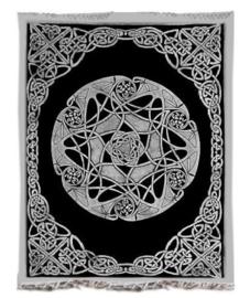 Bedsprei wandkleed grand foulard Keltish oneindig knoop 210 x 230