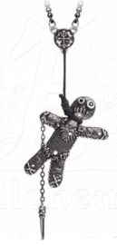 Alchemy Gothic ketting - Voodoo doll - 1.3 cm lang