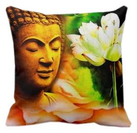 Kussenhoes Boeddha met Lotus - 45 x 45 cm