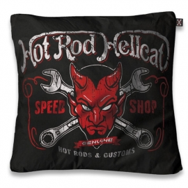 Kussenhoes Hot Rod Hell Cat - Devil - 50 x 50 cm
