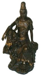 Quan Yin brons - 28 cm hoog