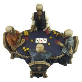 End Game - 4 skeletten die poker spelen - 16 cm hoog