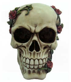 `Rose from beyond` - skull with roses