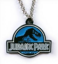 Metalen ketting movies Jurassic Park blauw