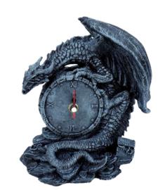 Gothic drakenklok 19 cm hoog