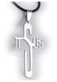 316 titanium staal ketting Jezus 5 cm lang