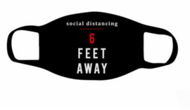 Social distancing masker 6 feet away