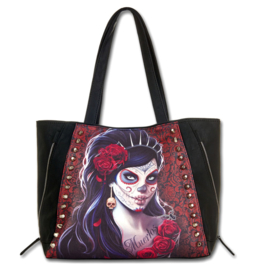 Spiral Direct kunstleren shopper - Day of the Dead - Dia de Muertos - 37 x 33 x 14 cm