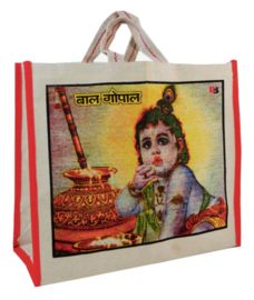 Bollywood Bag Indiase katoenen shopper - Krishna 2 - 35 x 40 x cms