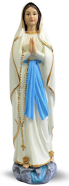 Maria van Lourdes - polystone beeld - 30 cm hoog