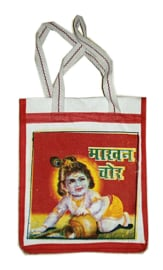 Bollywood Bag Indiase katoenen shopper - Krishna - 35 x 30 x cms