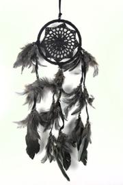 Droomvanger zwart gehaakt 11 cm