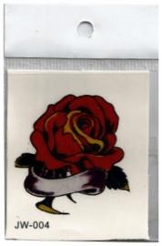 Plaktoeage rode roos