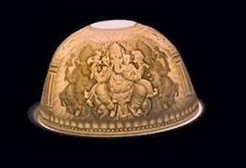 Porseleinen sfeerlicht / theelichthouder Ganesha