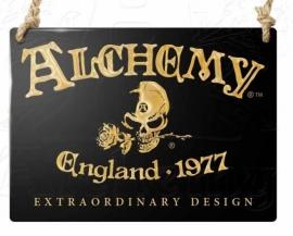 Emaille wandbord Alchemy - Alchemy England 1977