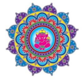 Raamsticker Ganesha - 14 cm Ø